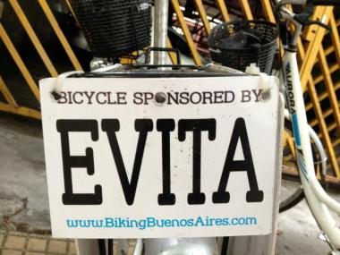 Of course my bike was called Evita.