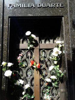 Evita's gravesite.