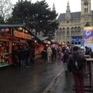 Another smaller Christkindlmarket in front city hall.