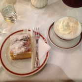 Cheese strudel at Cafe Sacher.