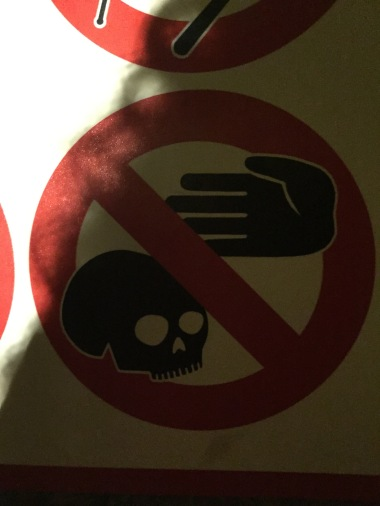 Don't touch the skulls.