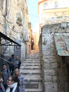 Narrow passageways in Jerusalem.